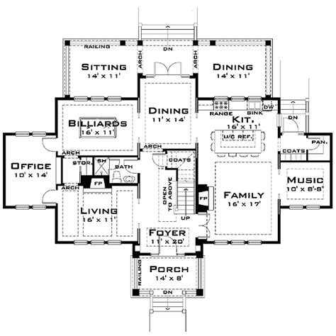 large house blueprints plan w44040td for the large family e architectural design