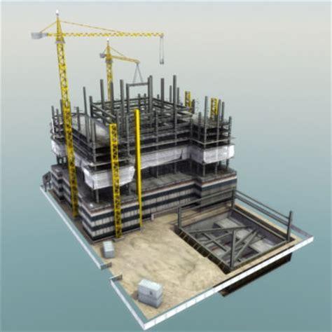 3D model Building Construction Site VR / AR / low poly MAX