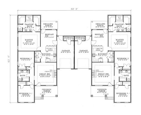 multi unit house plans multi unit house plan 153 1319 6 bedrm 2910 sq ft per