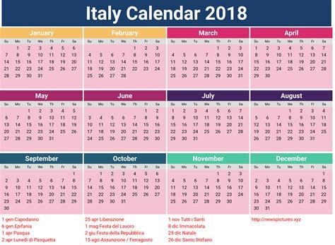 new year calendar images happy new year 2018 italian calendar free printable