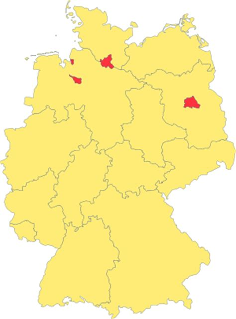 german states and capitals map states of germany