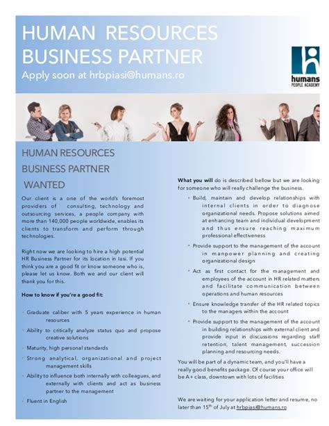 Stanford Mba Human Resources by Human Resources Business Partner