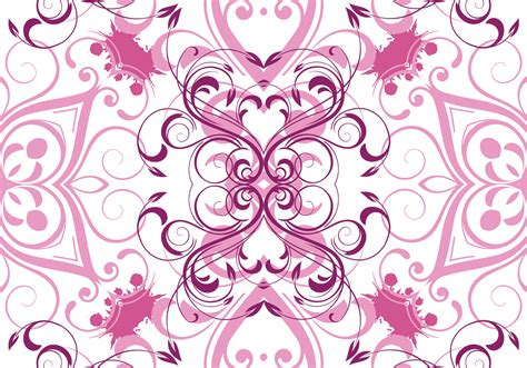 floral pattern vector background pink vector floral pattern background download free