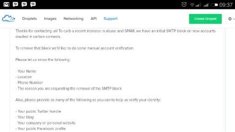 cara membuat vps menjadi smtp cara mengetahui port smtp vps diblokir oleh digitalocean