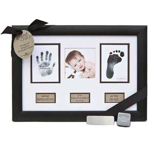 baby hand and foot prints frame for new grandparents