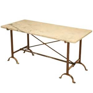 iron kitchen table antique iron and marble kitchen table at 1stdibs