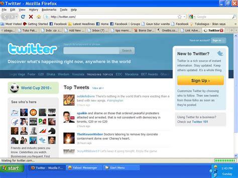 cara membuat twitter di facebook cara membuat twitter rangkaian kata