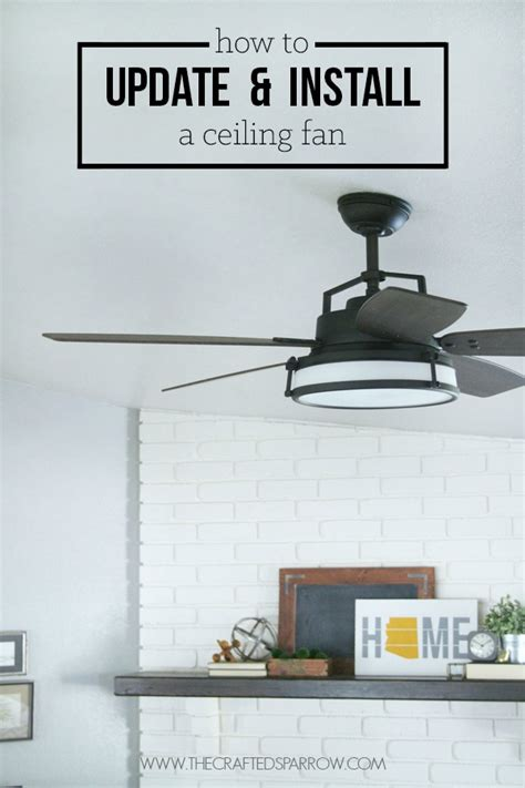 How To Replace A Ceiling Fan With A Light Fixture How To Update Install A Ceiling Fan