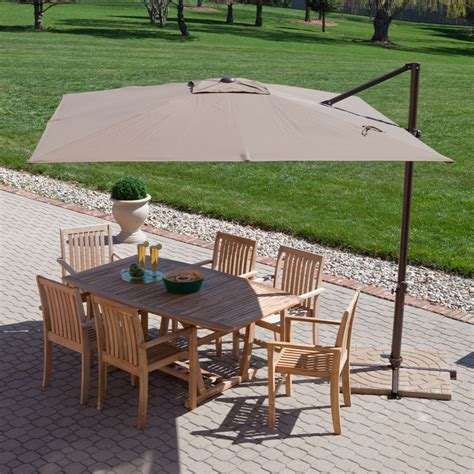 square cantilever patio umbrella modern 8 5 ft offset cantilever square patio umbrella with
