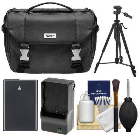 nikon deluxe digital slr gadget bag with en el14 battery charger tripod