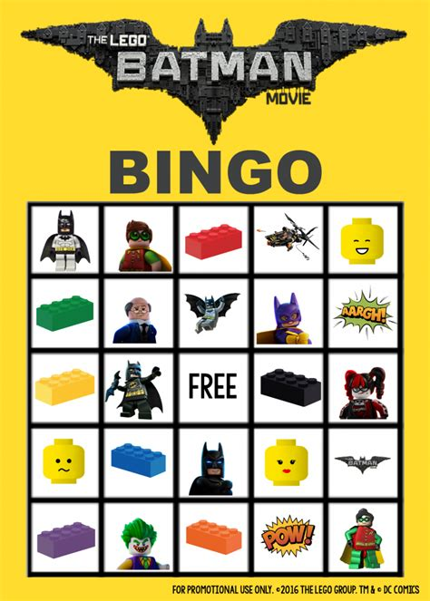 printable lego games lego batman bingo game crazy little projects