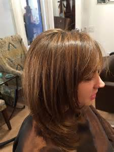 Highlights with caramel frosting for dark hair dark brown hairs