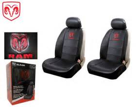 dodge ram front syn leather seat covers w logo fits all