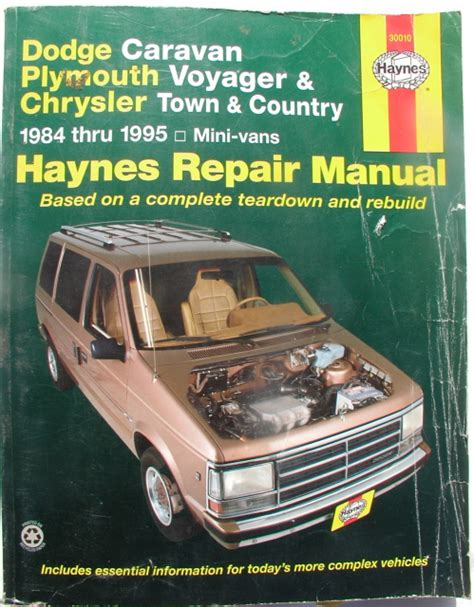 haynes dodge caravan plymouth voyager chrysler town country mini vans 1984 1995 auto repair manual haynes dodge caravan plymouth voyager and chrysler town country automotive repair manual