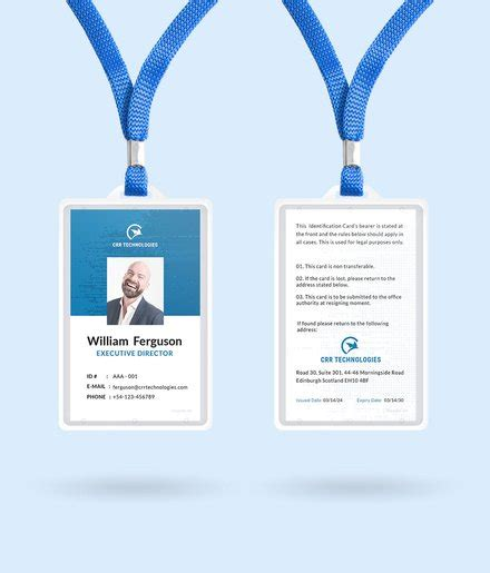 Id Card Template Illustrator by Free Employee Id Card Template In Adobe Illustrator