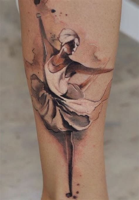 ballerina tattoo watercolor ballerina inkstylemag