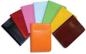 colored leather leather gifts for travel luggage passport covers