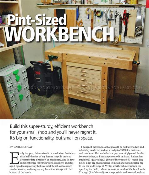 compact work bench compact workbench plans woodarchivist