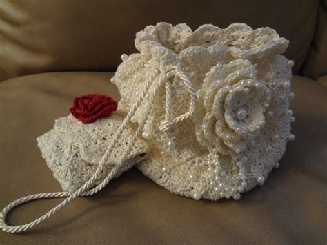 Crochet Pattern For Bridal Bag   crocheted bridal purse funfashionbyodessa