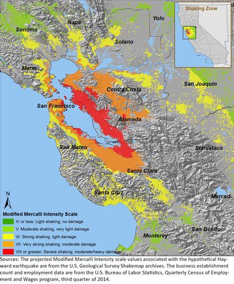 earthquake california bay area labor market risks of a magnitude 6 8 hayward fault