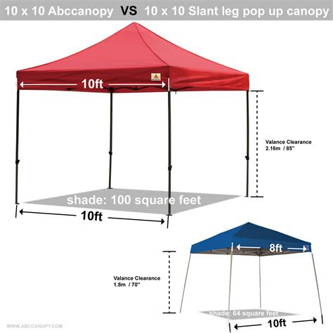 10 x 10 square feet 10x10 abccanopy pop up canopy commercial shelter backyard