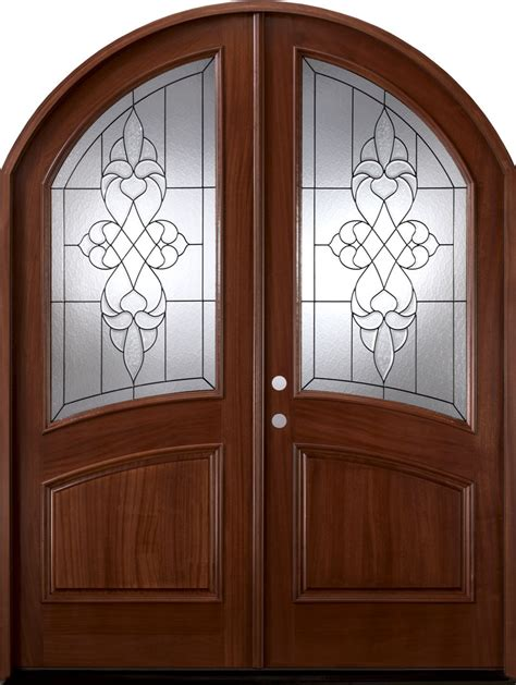 brussels mahogany arched top door