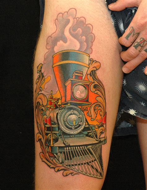 locomotive tattoo education tattoos russ abbott locomotive