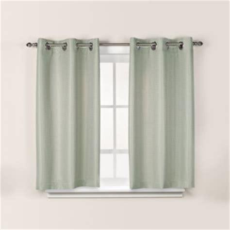 hookless window curtains hookless waffle 38 inch x 45 inch window curtain in sage