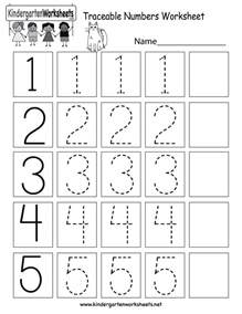 free printable traceable numbers worksheet for kindergarten