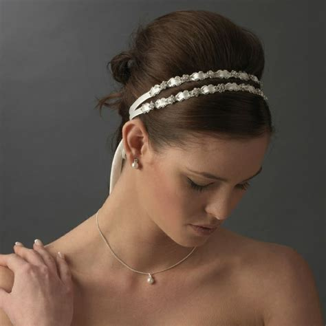 hairstyles with double headband bridal headpieces for summer pretty designs