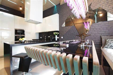 futuristic neon kitchen  moscow