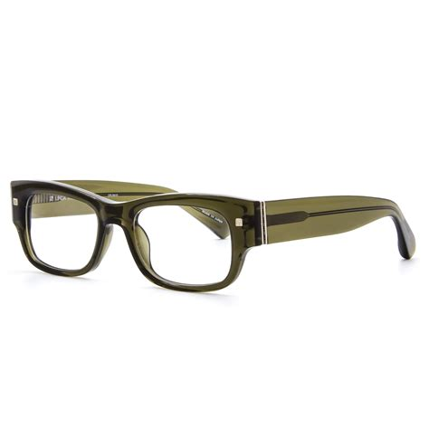 farrow luxe 24 eyeglasses c13 transparent olive
