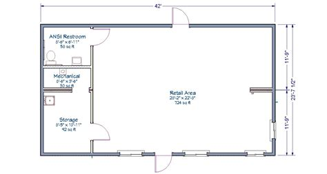 floor plan of retail store retail store tlc modular homes