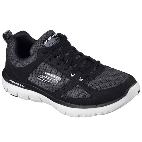 wide width athletic shoes for skechers s flex advantage 2 0 black athletic shoe