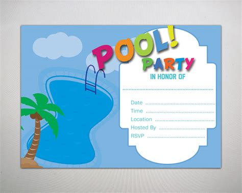 pool party invitation template gangcraft net