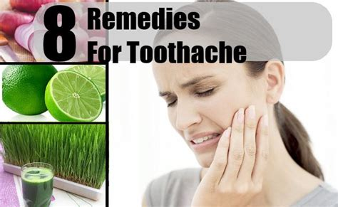 8 home remedies for toothache treatments cure