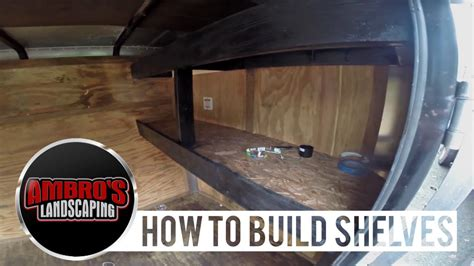 build shelving   enclosed trailer diy youtube