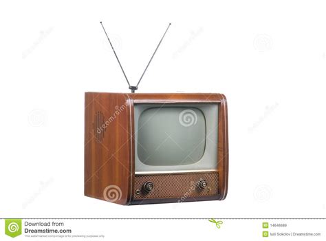 vintage tv with antenna royalty free stock images image 14646689