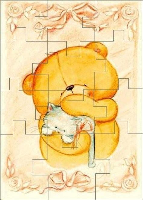 lade cameretta bimbi puzzle orsetto con gattino