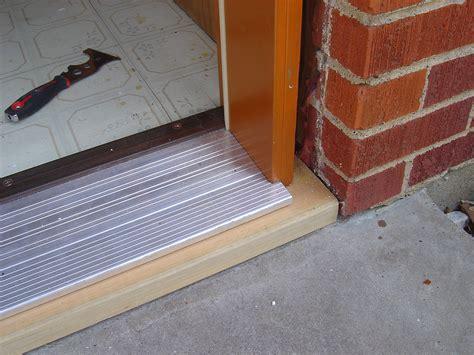 Exterior Door Installation Installing A Prehung Door Exterior Door Threshold Plate