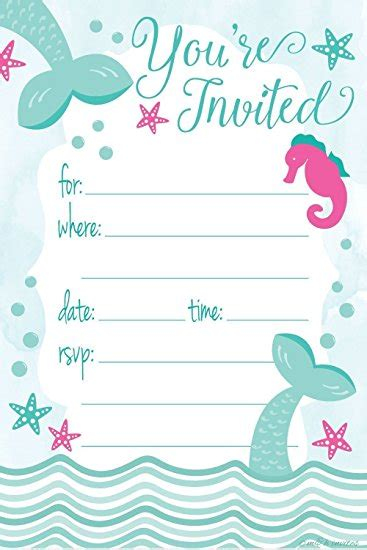 printable mermaid invitations invitation templates mermaid invitations