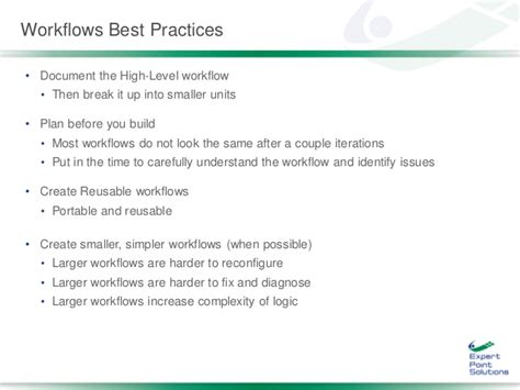 sharepoint workflow best practices build scalable sharepoint 2013 staged workflows to run
