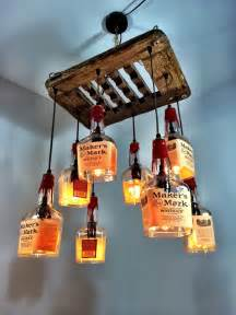 How To Make A Glass Bottle Chandelier Makers Mark Whiskey Amp Driftwood 8 Bottle Chandelier By
