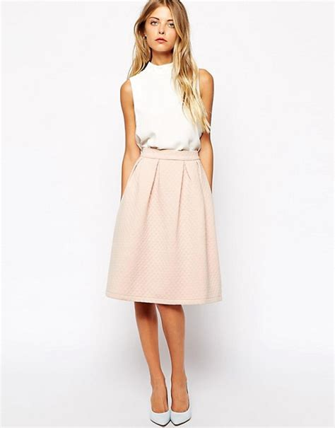 Patterned A Line Midi Skirt midi skirt a line fashion skirts
