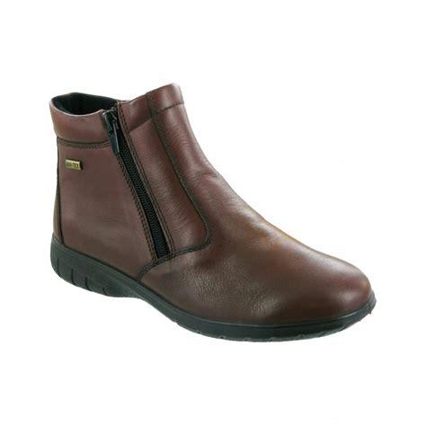 waterproof ankle boots cotswold deerhurst brown leather waterproof ankle