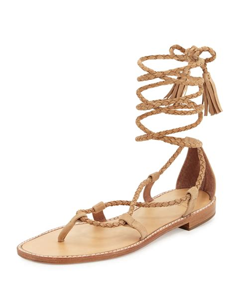 gladiator sandals lace up joie bailee lace up flat gladiator sandal in lyst