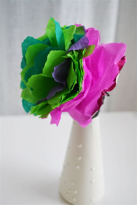 Pretty Paper Crafts - craft how to make pretty paper flowers checks and