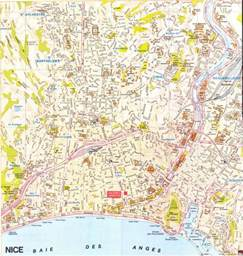 Map Of Nice France by Nice Map Nice France Mappery
