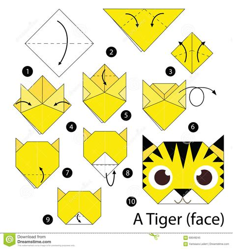 Origami Tiger Step By Step - origami tiger