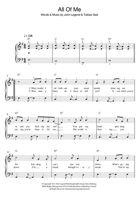 free all of me john legend piano sheet music tutorial all of me piano sheet music by john legend easy piano